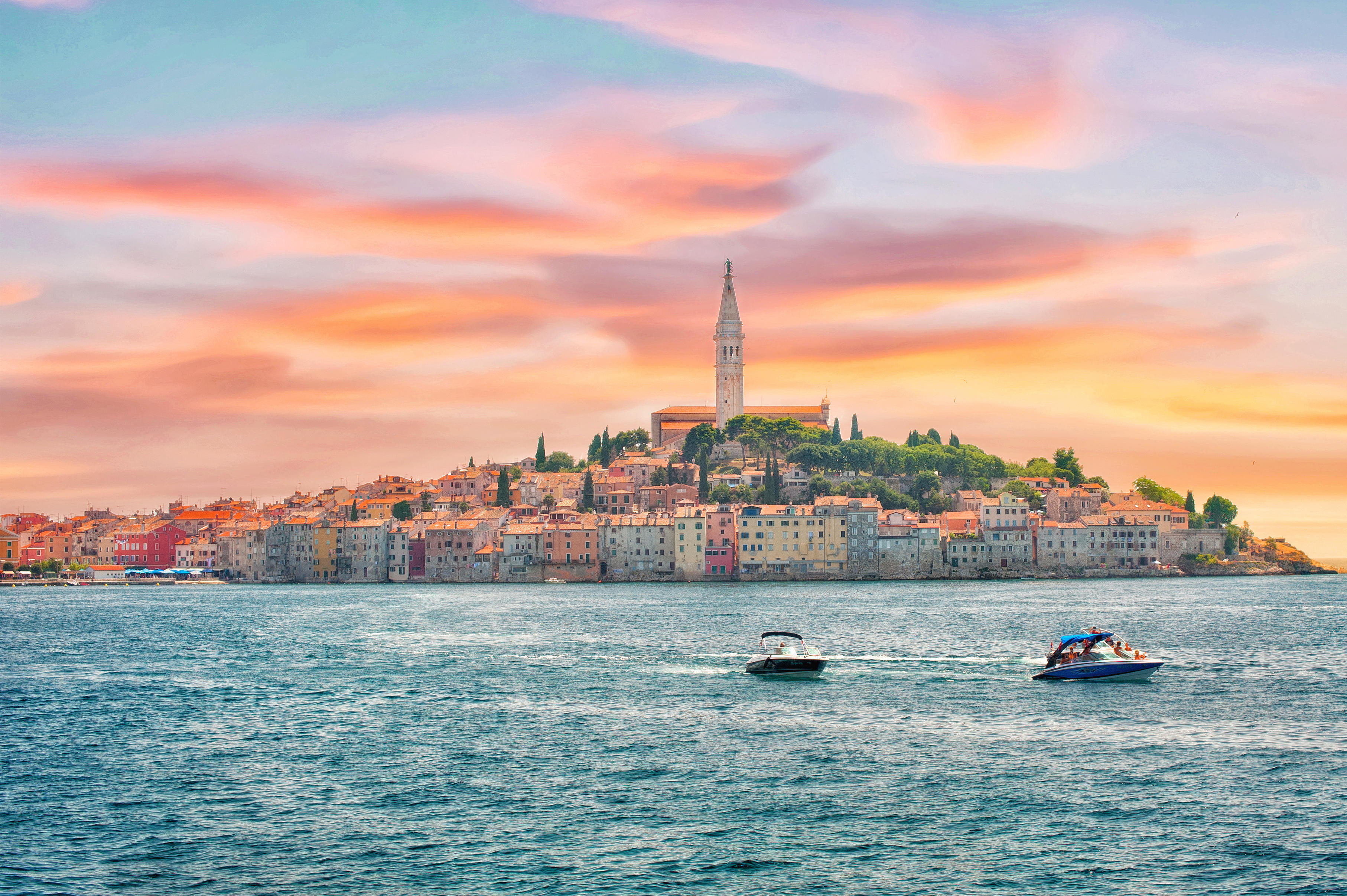 Croatia. View of the historical center of Rovinj